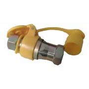 Головка соединительная FA2022 М22х1,5 желтая / красная (быстро разъемное соединение)