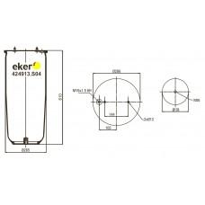 Пневморессора 4913NP04 SCANIA без стакана,  2 шпильки+воздух М16мм