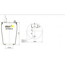 Пневморессора 6606NP01 VOLVO  без стакана кронштейн+шпилька-штуцер М24/16мм,