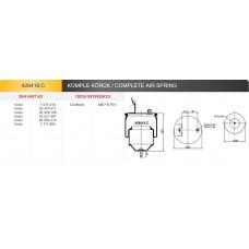 Пневморессора 6607NP01 VOLVO FH/FM с металлическим стаканом, кронштейн+штуцер М16мм