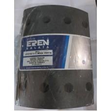 Барабанные тормозные накладки с заклепками 19574 (2-ремонт) для  BPW (304*200)