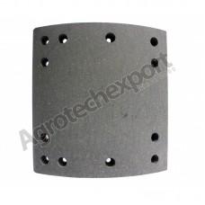 219036 Барабанные тормозные накладки с заклепками 19036, 19037 для DODGE AS 600-700- 800 (419*178) Отверстие под заклепку 8мм.
